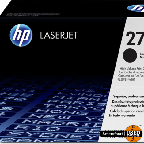 HP LaserJet 27x | C41247x | Zwart Toner Cartridge