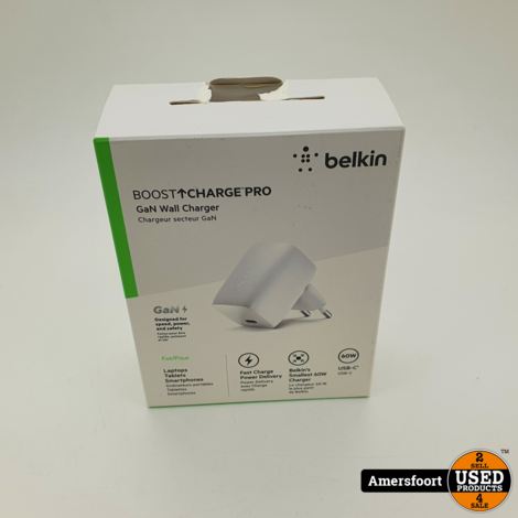 Belkin Boost Charge Pro USB-C PD GaN-wandlader (60 W)
