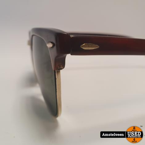 Ray Ban B&L Clubmaster WO366 80's U.S.A. 140 Zwart/Black | in Koker