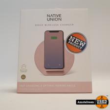 Native Union Fabric draadloze oplader - Roze/Pink #1 | Nieuw