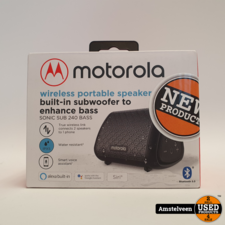 Motorola Sonic Sub 240 Bass speaker Wireless Waterproof IPX5 | Nieuw