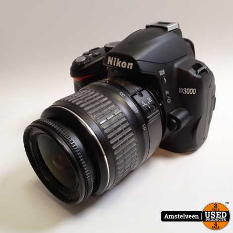 Nikon D3000 Body + 18-55mm Lens | Compleet in Doos