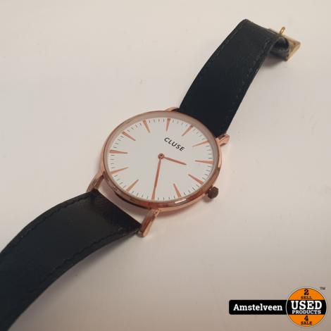 CLUSE La Boheme CL18015 Horloge Zwart Leren Band | excl. Doos