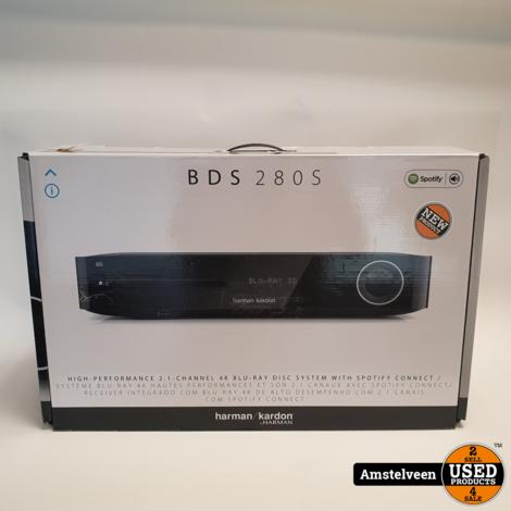 Harman Kardon BDS 280S 2.1 Receiver 4K Blu-Ray Zwart | Nieuw