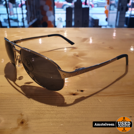 Cartier Santos-Dumont Zonnebril/Glasses Silver 130-58-16   excl. Doos & Papieren