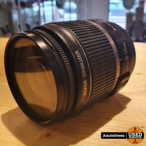 Canon EF-S 18-55MM F/3.5-5.6 IS Objectief   Nette Staat