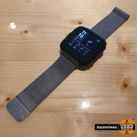 Fitbit Versa 1 Milanese Band Zwart/Black | Nette Staat