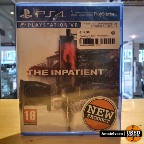 Playstation 4 Game: The inpatient | Nieuw in Seal