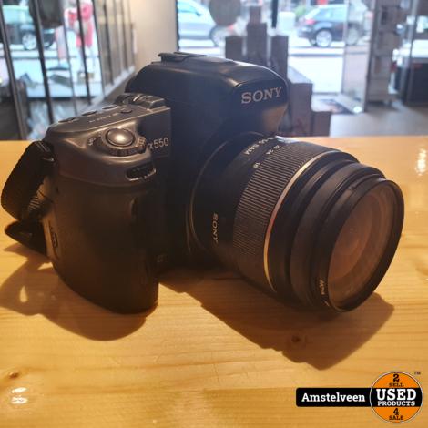 Sony Alpha 550 Body Black   incl. 18-55mm Sal1855 Lens   in Doos