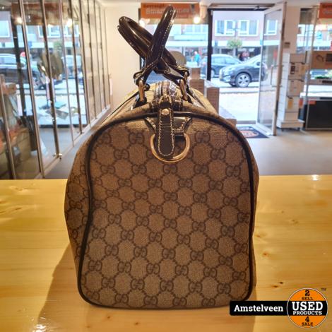 Gucci GG Plus Monogram Medium Joy Boston Dark Brown | Nette Staat
