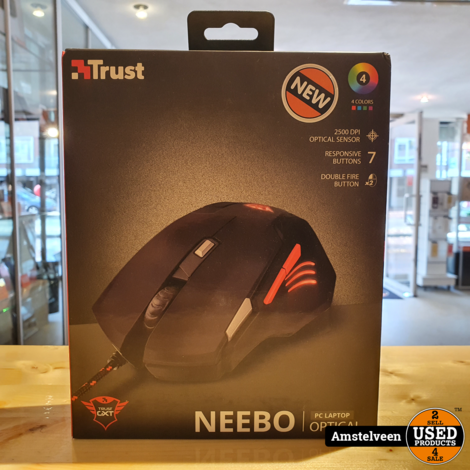 Trust GXT111 Gaming Mouse | Nieuw