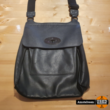 Mulberry Schouder Tas Leather Black   Nette Staat