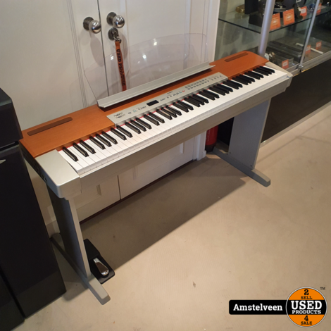 YAMAHA P-120 Piano Silver + Statief & Pedaal   Nette Staat