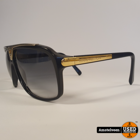 Louis Vuitton Black Z0350W Evidence 66-7 Zonnebril