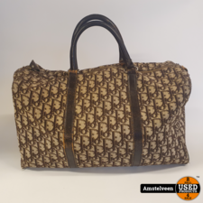 Christian Dior Boston Vintage | Bruin canvas monogram 50's