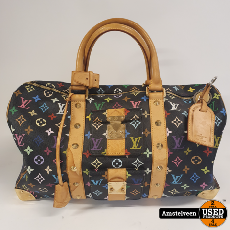 Louis Vuitton Keepall 45 Multicolor Canvas Noir 2003