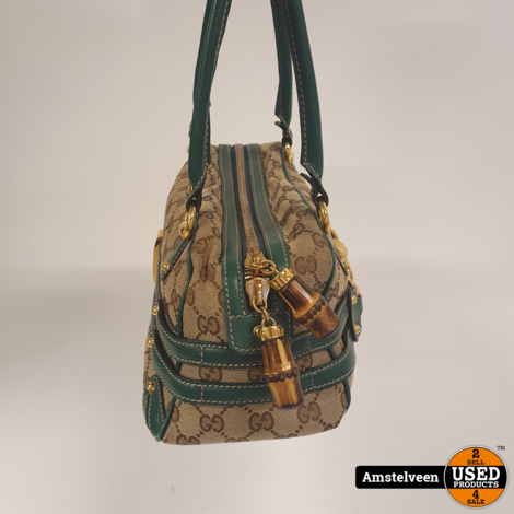 Gucci GG Canvas Bamboo Small Bag Vintage 159399 | Nette Staat