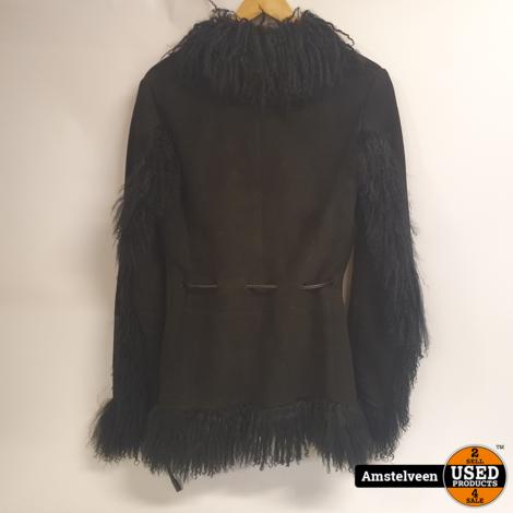 GUCCI Mongolian Lamb (Black) Size: 42 ZAMASPORT