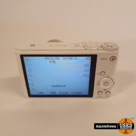Sony Cyber-Shot DSC-WX350 Wit/White | incl. Lader