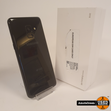 Samsung Galaxy A8 (2018) 32GB Duos Black | Nette Staat