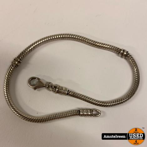 Pandora Armband | 21cm | incl. 5 bedels & veiligheidsketting | Nette staat