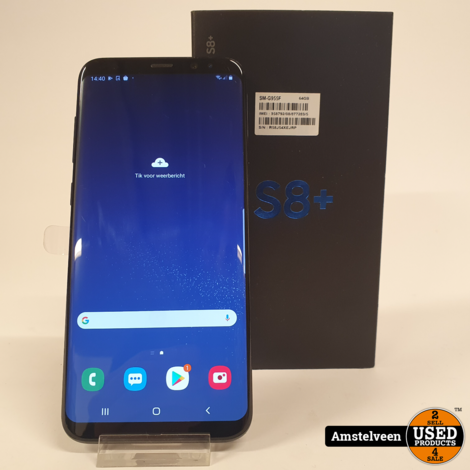 Samsung Galaxy S8 Plus 64GB Black | Nette Staat