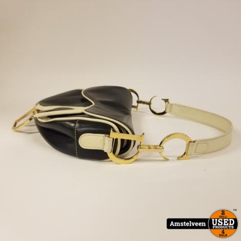 Dior Saddle Bag Black White Vintage | Nette Staat
