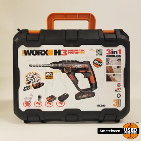 Worx accuboorhamer WX390 20V   Nieuw in Koffer