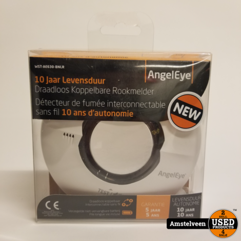 AngelEye Draadloos Koppelbare Rookmelder WST-AE630-BNLR | Nieuw