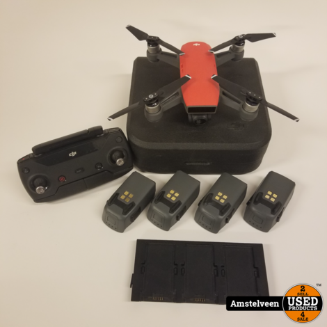 DJI Spark Drone MM1A Lava Rood/Red | 5 Accu's | Nette Staat