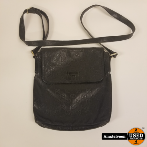 Gucci Small Messenger Bag 223666 Black Leather