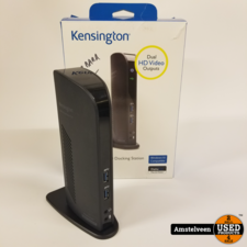Kensington KTG USB 3.0 Dual Uni Dock Black | Nette Staat