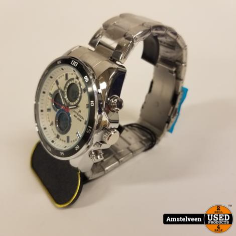 Paterson Chronograph Horloge Silver/Black   Nieuw in Doos