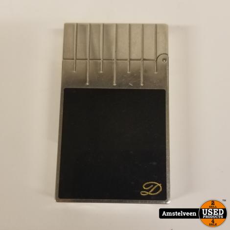 S.T. Dupont Aansteker/Lighter Zilver/Zwart   Nette Staat