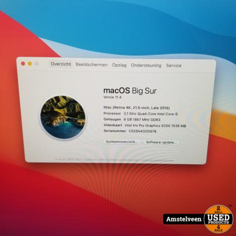 iMac 2015 21.5-inch 4K | 8GB i5 1TB | incl. Toetsenbord & Muis