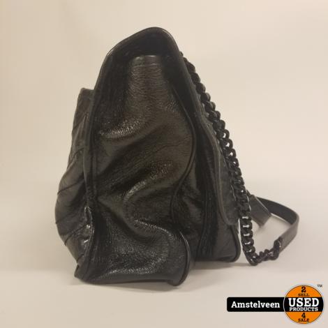 Saint Laurent Niki Large Crinkled Vintage Leder Black   Nette Staat