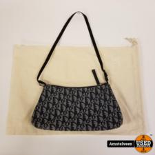 CHRISTIAN DIOR Denim Logo Pochette Bag | Nette Staat