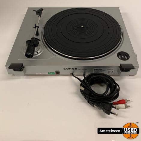 Lenco L-3866 USB LP/Platenspeler Zilver | Nette Staat