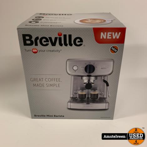 Breville Barista Espresso Mini voor 2 L water tank melkopschuimer Latte & Cappuccino   Nieuw