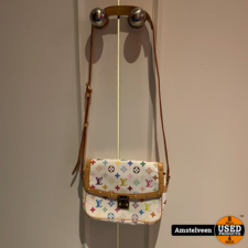 Louis Vuitton White Monogram Multicolore Sologne Bag   Nette Staat
