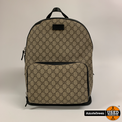 Gucci GG Supreme backpack Brown 406370   Nette Staat