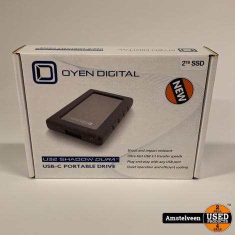 Shadow Dura U32 2TB USB-C Rugged Portable Solid State Drive SSD   Nieuw
