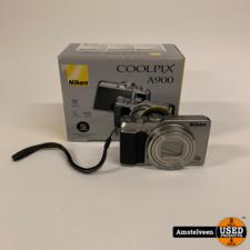 Nikon Nikon Coolpix A900 Zilver WiFi | Nette Staat