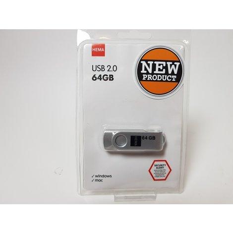 USB Stick 2.0 64GB | Nieuw