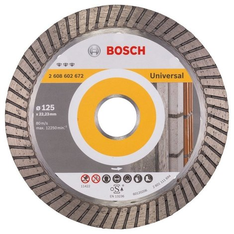 Bosch - Diamantdoorslijpschijf Best for Universal Turbo 125 x 22,23 x 2,2 x 12 mm | Nieuw