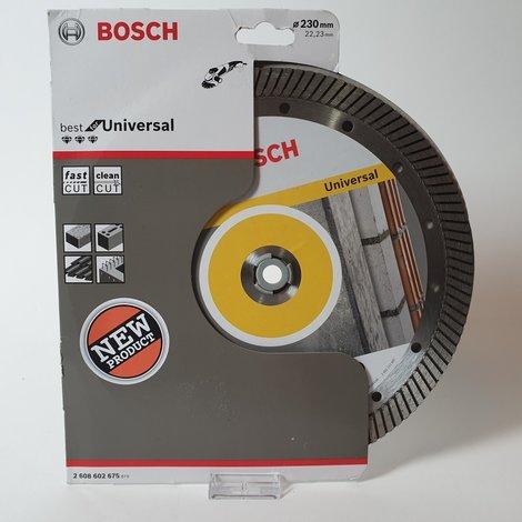 Bosch - Diamantdoorslijpschijf Best for Universal Turbo 230 x 22,23 x 2,5 x 15 mm | Nieuw