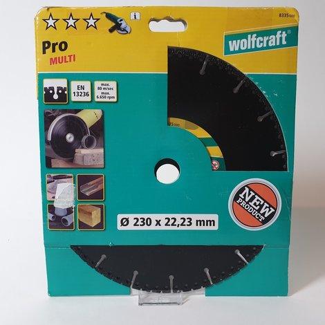 Wolfcraft 8335000 Diamantdoorslijpschijf - 22,2 x 230mm - Universeel | Nieuw