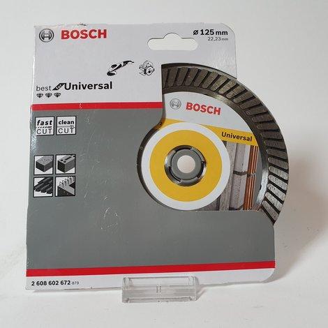 Bosch - Diamantdoorslijpschijf Best for Universal Turbo 125 x 22,23 x 2,2 x 12 mm | Nieuw