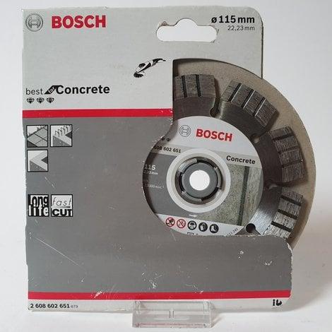 Bosch - Diamantdoorslijpschijf Best for Concrete 115 x 22,23 x 2,2 x 12 mm   Nieuw