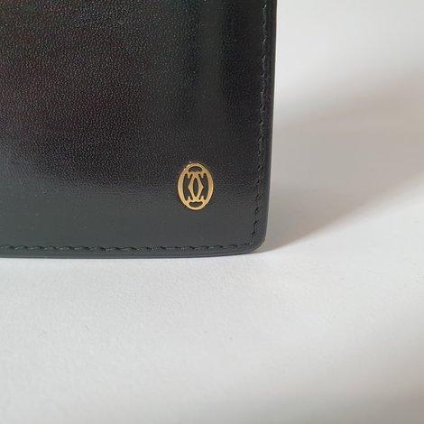 Cartier Pasha Wallet/Portomonee Zwart/Black Leather | incl. Garantie